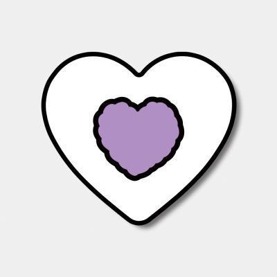 [하트톡♥] lavender heart fluffy