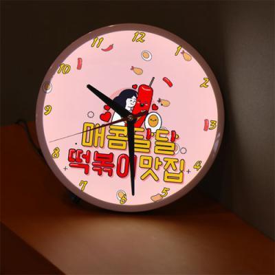 ng567-LED시계액자25R_매콤달달떡볶이맛집