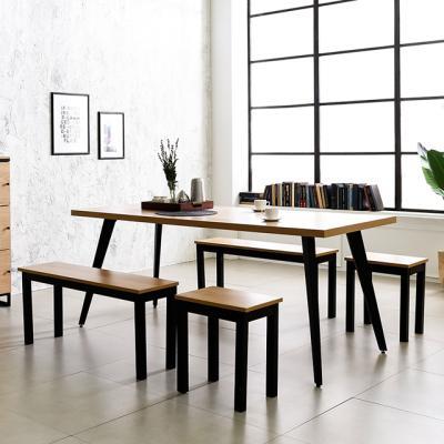 블랙 인더밴 1800 철제 식탁 테이블