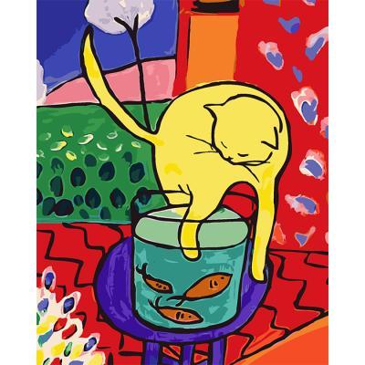 아이엠미니DIY별빛명화그리기30x40_앙리마티스 고양이