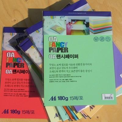 [두성종이] A4-180g-15매의 OA용지-OA 팬시페이퍼