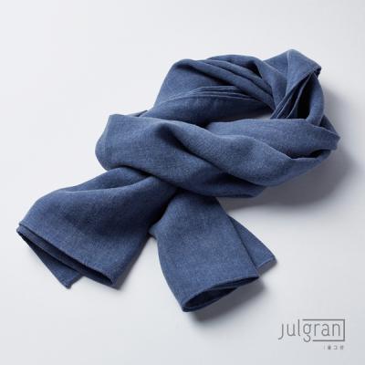 JULGRAN 거즈 솔리드 유아머플러(1~7세) 인디고블루