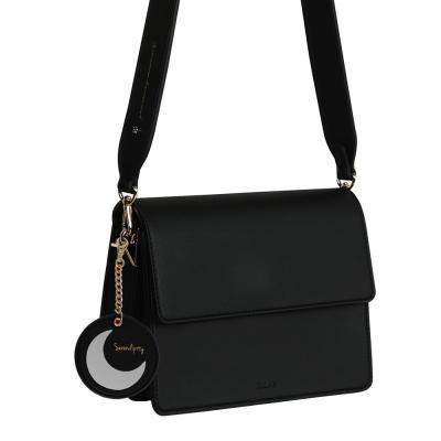 (달거울 증정/탄생석) Two way Bag (S) - Black