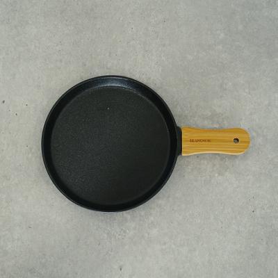 우드손잡이 블랙 무광 그릇 원형플레이트 (중)