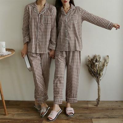 Gingham Check Pajama Set - 커플룩