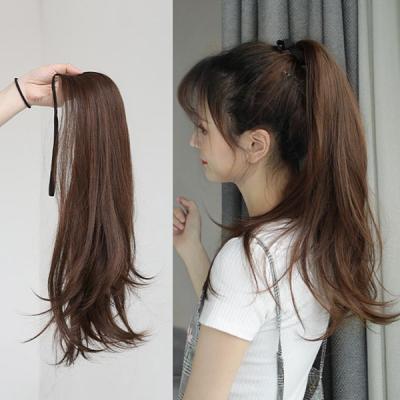 포니테일롱 자연스러운 올림머리 붙임머리 부분가발