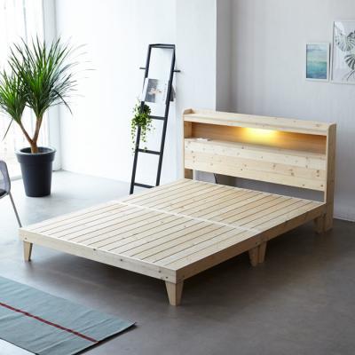 모닝듀 소나무 원목 침대 Q (LED마루형) OT066