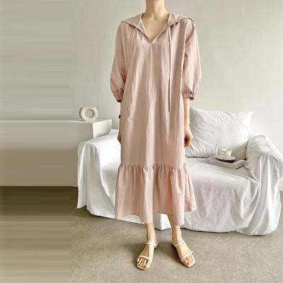 Mia Hood Puff Long Dress