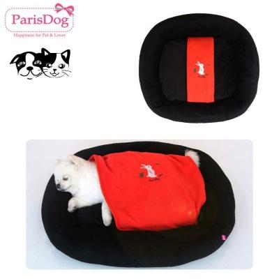 패리스독 블랑켓 코드 베드(블랙) (강아지 침대)