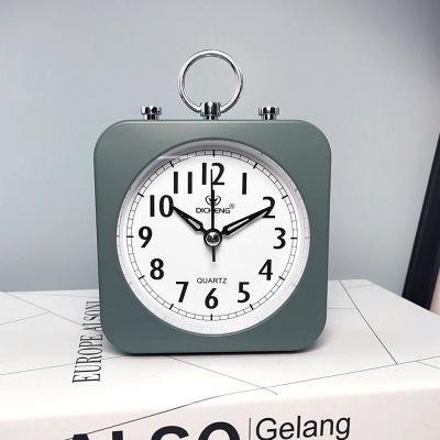 퀴리 사각 알람 탁상시계(그린)