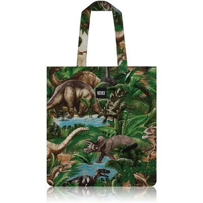 nother Dinosaurs Flat Tote Bag (Green) / 나더 다이노스 플랫 토트백 (그린)