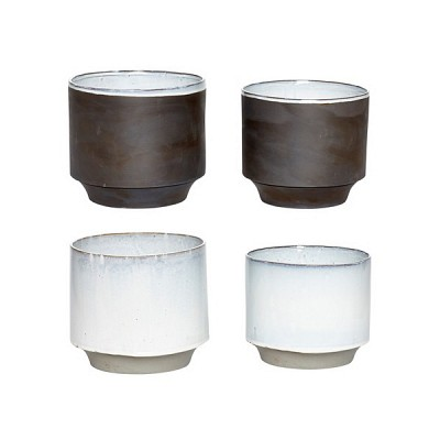 [Hubsch]Pot, ceramics, dark grey, s/2 화분