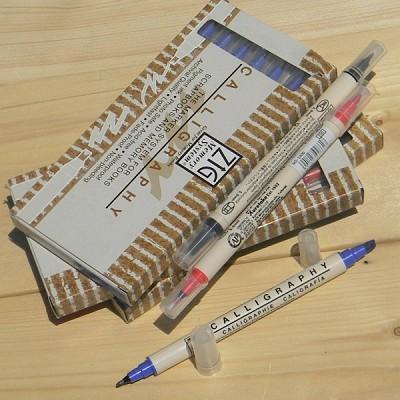 [Kuretake] 2mm/5mm 양면닙...일본 쿠레다케 지그 트윈 캘리그라피펜 1다스(6자루) HF126-1