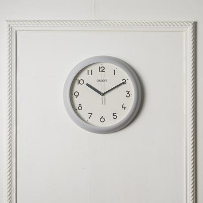 오리엔트 무소음 OT847 그레이 인테리어벽시계