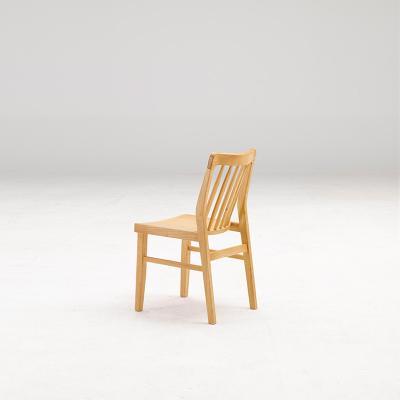 휴치 고무나무 원목 식탁 의자 B타입
