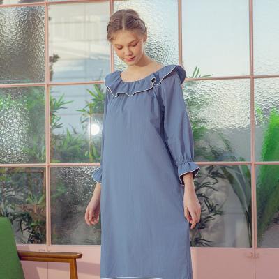 Angel 파이핑프릴 원피스잠옷 여성 홈웨어