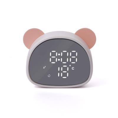 팬더 디지털 미러 탁상 알람 시계