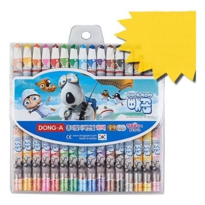 빼꼼 종이말이 색연필 16색
