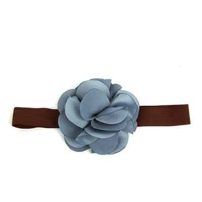 [헤어보우]Lovely Flower 베이비밴드-Blue