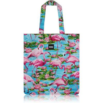 nother Flamingo Flat Tote Bag (Lily Pond) / 나더 플라밍고 플랫 토트백 (수련)