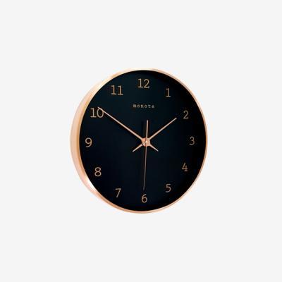로즈골드 카파프레임 벽시계 30cm(블랙)
