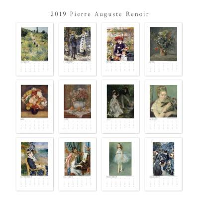 [2019명화캘린더]Pierre Auguste Renoir 르누아르 B