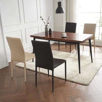 브리엔 원목 철제 식탁 세트A 1400 + 의자 4개포함