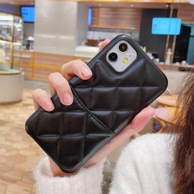 아이폰12 11 pro max xs se2 8 퀄팅 가죽 카드 케이스