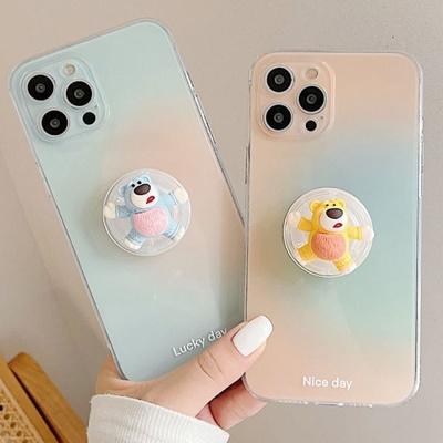 아이폰 12 11 pro max 곰돌이 그립톡세트 투명 케이스