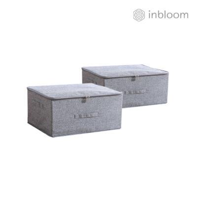 인블룸 1+1세트 패브릭 수납박스 소형 그레이