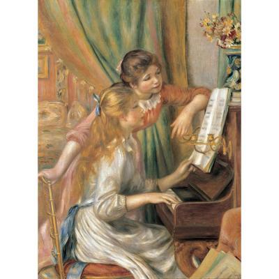 500피스 직소퍼즐 - 피아노 치는 두 소녀