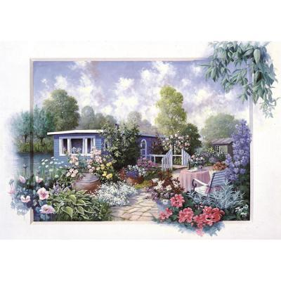 500피스 직소퍼즐 - 꽃과 정원