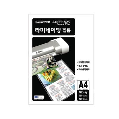 라미에이스 보급형 코팅필름 100MIC A4(100매)