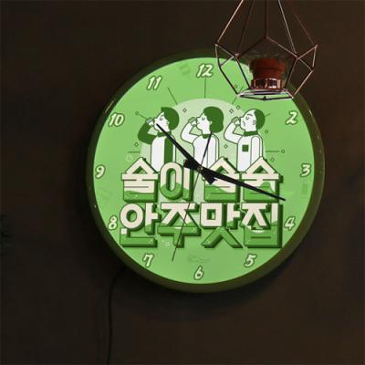 ng580-LED시계액자35R_안주맛집