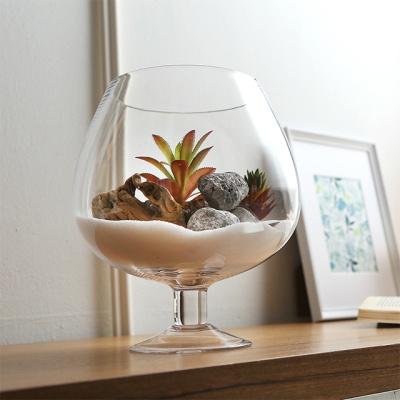 와인잔 유리어항 꽃화병 (미니)