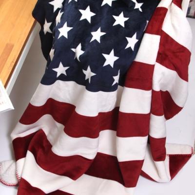미국 성조기 플란넬 담요 130x160cm