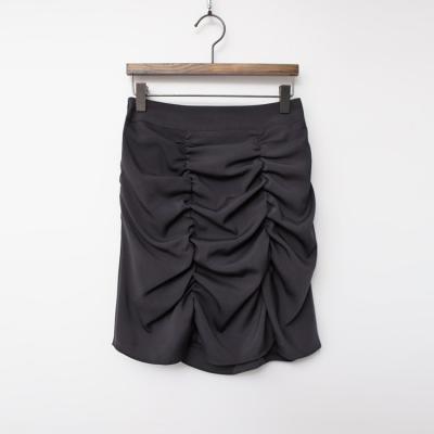 Shirring Mini Skirt
