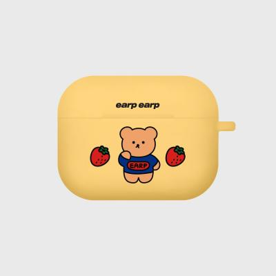 strawberry bear-yellow(Air pods pro case)
