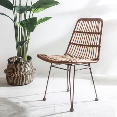 인테리어 소품 티크 라탄 의자
