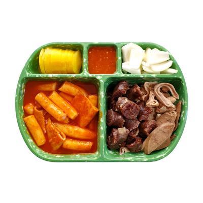 레트로 혼밥그릇 5절접시 1P (옐로우,쑥색)-택1