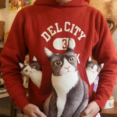 DIY패브릭 '턱시도 고양이가족'
