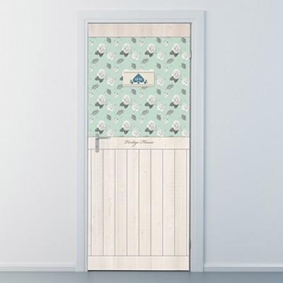 ncbr070-빈티지 하우스1-무늬목-현관문시트지