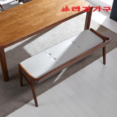 구시 고무나무 원목 3인 식탁 벤치의자