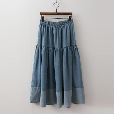 Cancan Denim Long Skirt