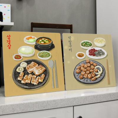 cl541-폼아크릴액자38CmX38Cm_맛있는음식들3(안주)