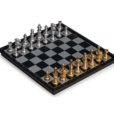 맥킨더 보드게임 고급 자석 체스판 세트 골드 실버