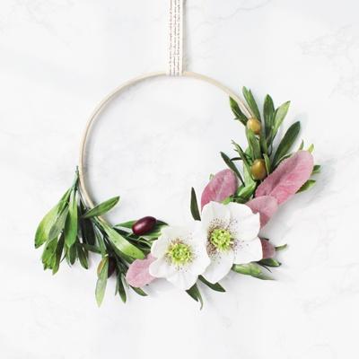 Modern Floral Wreath