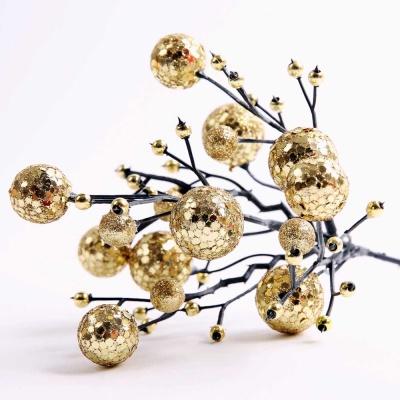 트리장식 포인꽃 열매 (골드)