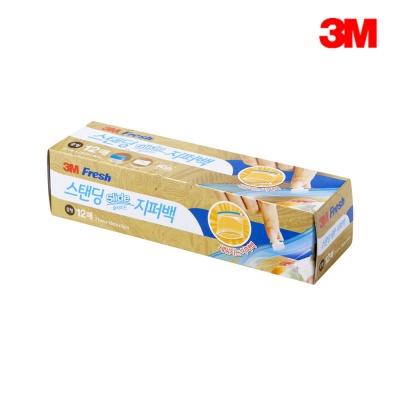 3M 스탠딩 슬라이드지퍼백 (중) 12매