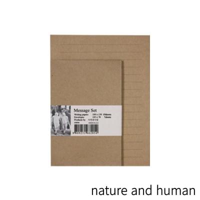 자연과사람 메시지 편지지 세트 CL 크라프트 라인(소)